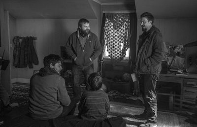 Robert Kirkman joins the cast & crew of Outcast on set while filming the first episode